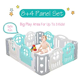 Amazon Com Wonder Space Baby Playpen Large Space Activity Play