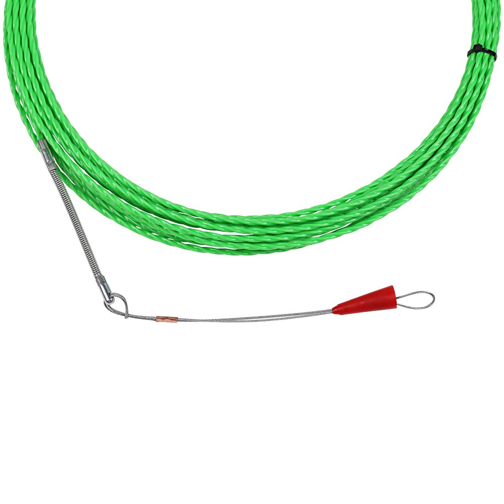 Fish Tape Electrical Wire Threader Wire Puller Through Wall Fish Threader plus Fish Cable Fastener with Steel rope 40FT(12M) by StartFine (Image #2)