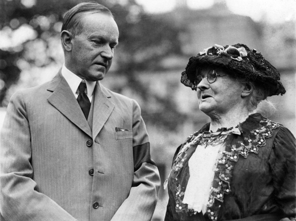 Calvin Coolidge with Unionオーガナイザージョーンズ写真 24 x 36 Giclee Print LANT-4899-24x36 B017ZJH72M  24 x 36 Giclee Print