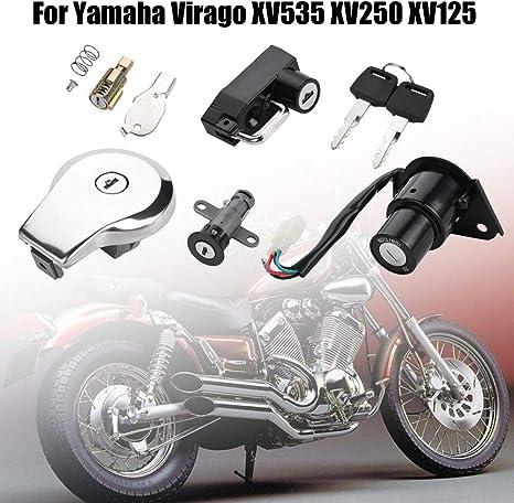 Kimiss Motorrad Zündschalterverriegelungs Set Für Xv535 Xv250 Xv125 Auto