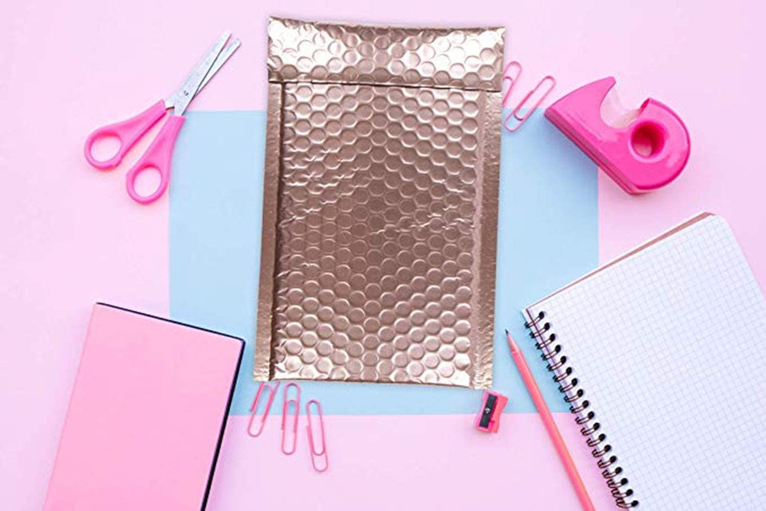 9 Peal and Seal Self-adhesive shipping bags for mailing packing packaging Wholesale price 20 Pack ANNIUP Rose Gold Bubble envelopes mailers Metallic padded envelopes 6