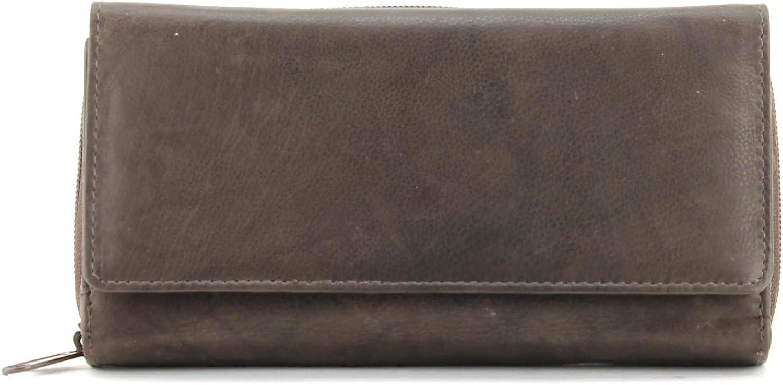 Bacci WomenS Zip Around Leather Clutch