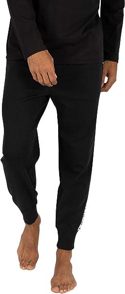 Calvin Klein de los Hombres Logo Pijama Bottoms, Negro, M ...