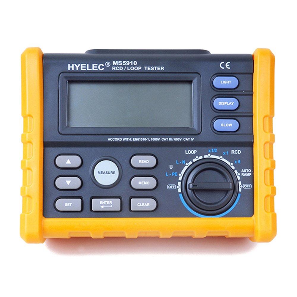 hyelec ms5910 rcd loop tester circuit multimeter fr gfci loop