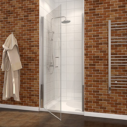 28 2/5 - 30 In. W x 72 In. H One Panel Pivot Shower Doors, Clear Glass in Chrome Finish new