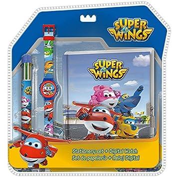 Disney – Super Wings Set Reloj Digitale con bolígrafo 6 C + Agenda, wi17008