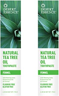 product image for Desert Essence Natural Tea Tree Oil Fennel Toothpaste, 6.25 Ounce - 2 per case.