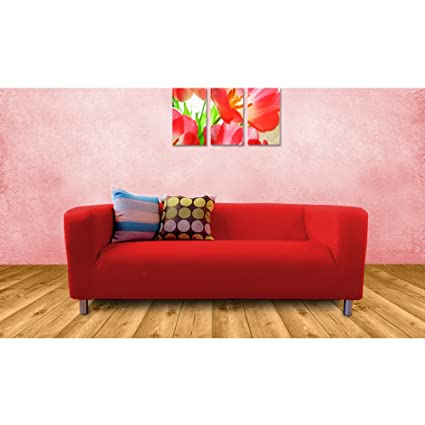 Shopisfy Replacement Cover For Ikea Klippan Sofa 2 Seater Red