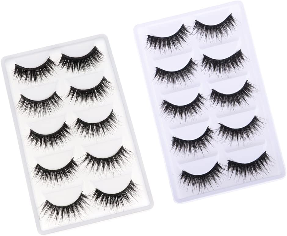 5 Pairs Black Fake Eyelashes for 12/'/' Blythe Doll DIY Making Accessory