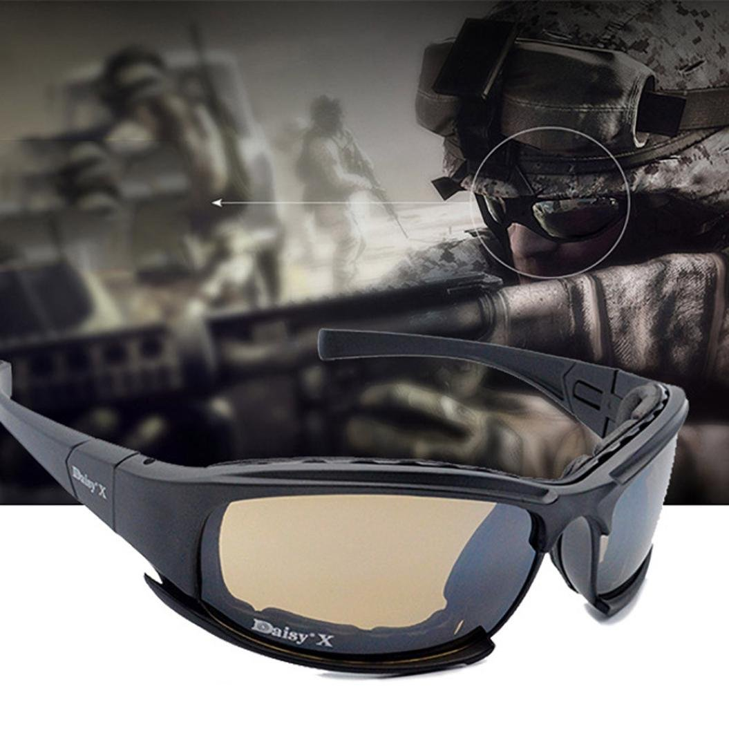 OVERMAL 4 Lens Kit Army Goggles Military Sunglasses Men's Outdoor Sports War Game Tactical Glasses by OVERMAL (Image #5)