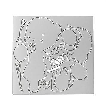 KIMODO Troqueles de corte, Metal DIY Scrapbooking Stencil, tarjeta de álbumes, repujado Craft Decor para el hogar: Amazon.es: Hogar