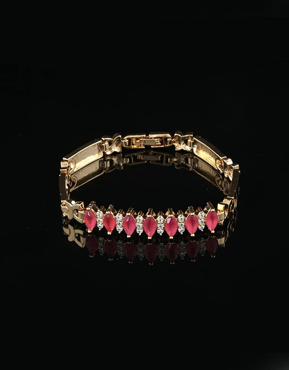 Anuradha Art Pink Colour Classy Look This Beautiful Designer Hand Bracelets//Kada for Women//Girls