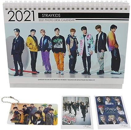 Stray Kids 2021 Portable Mini Photo Desk Calendar Small Size