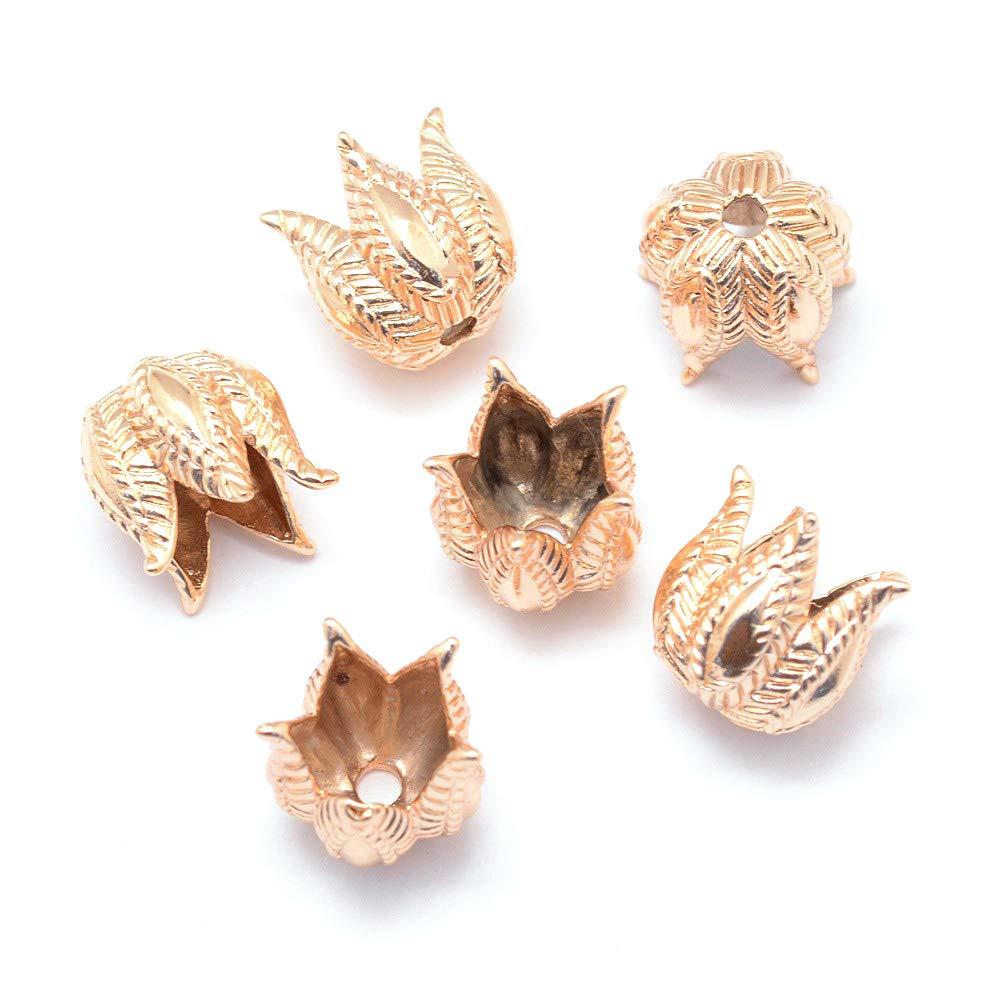 Craftdady 20Pcs Antique Golden Flower Spacer Bead Caps 10x10mm Cadmium Free /& Lead Free /& Nickel Free Tibetan Metal Bead Cone End Caps Terminators for DIY Jewelry Making