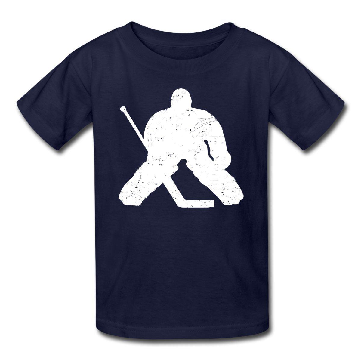Amazon Com Spreadshirt Ice Hockey Goalie Silhouette Kids T Shirt