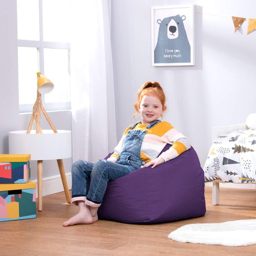Violet Un Si/ège Fauteuil pour Enfant Bean Bag Bazaar Chaise Pouf Moyen-Grande Taille pour Enfants pour Un Usage int/érieur et ext/érieur de Chaises Pouf pour Enfants