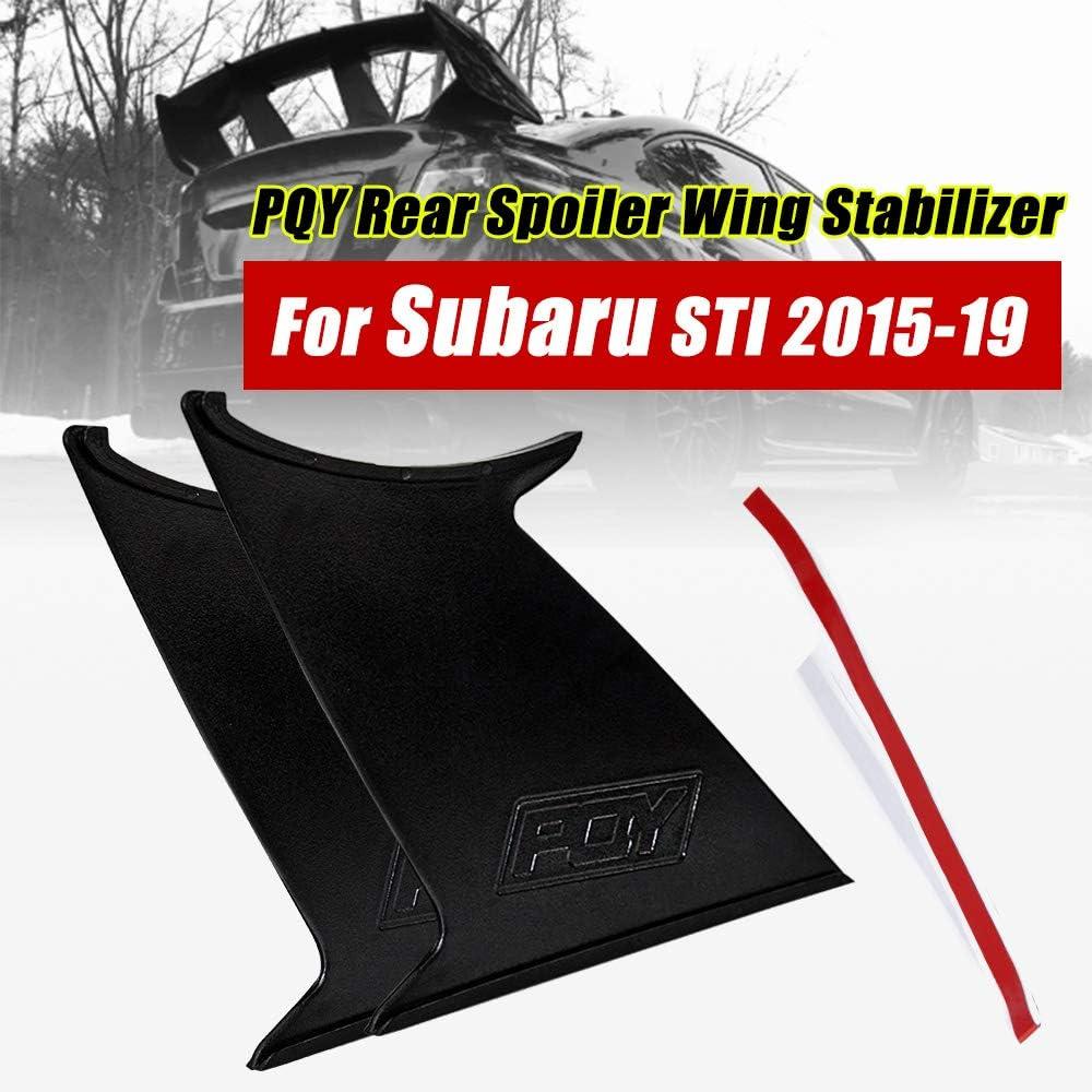 PQYRACING 3PCS Spoiler Wing Stabilizer Compatible for Subaru STI 2011-14 Spoiler Wing Stiffi Support Rally