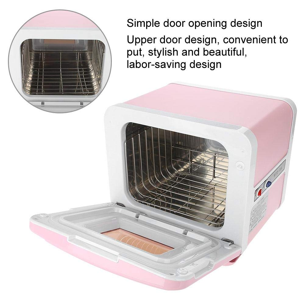 Sterilizer Cabinet, Mini Towel Warming Disinfection Cabinet Heating Sterilization Machine for Spa Massage Tools, Clothing, Towel (Pink) by TMISHION (Image #4)