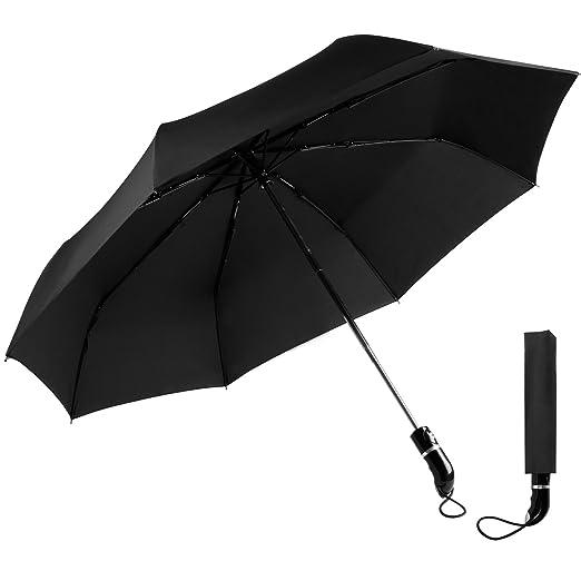 37 opinioni per OXA ombrello da viaggio a prova di vento con diametro di 105cm apertura e