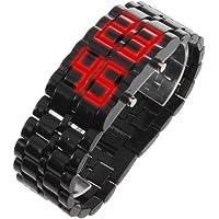 TOOGOO(R) LED-Digital-Lava-Armbanduhr fuer Maenner und Frauen