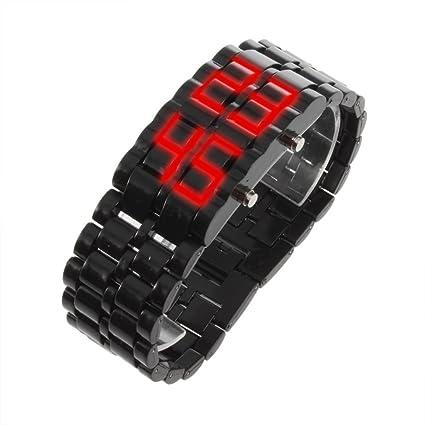 SODIAL(R) Reloj de Pulsera LED Digital para Hombre y Mujer