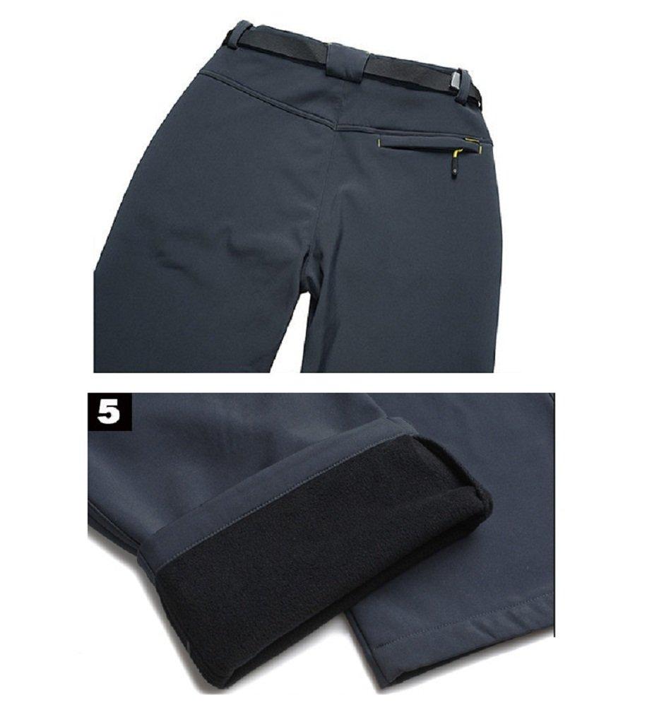 Hanxue Womens Windproof Waterproof Softshell Fleece Ski Pants