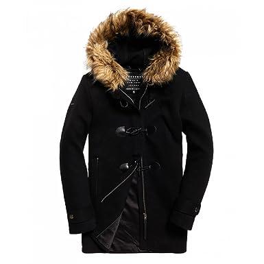 newest abc0e d6b29 Superdry Damen Mantel Gr. XL, schwarz: Amazon.de: Bekleidung