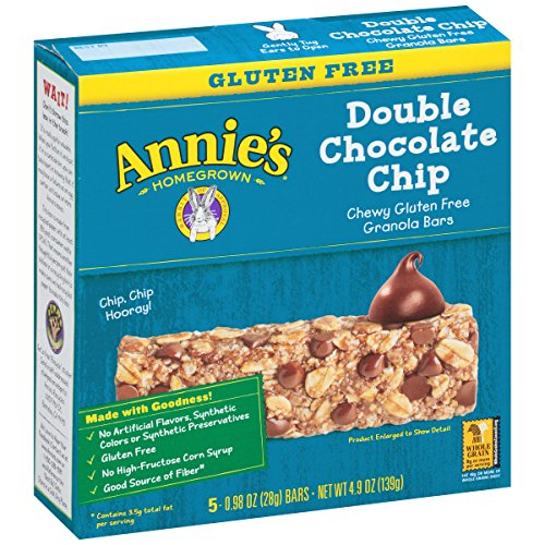 Annie's Chewy Gluten Free Granola Bars, Double Chocolate