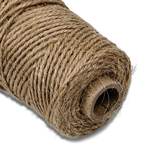 G2PLUS-Natural-Jute-Twine-for-Crafts-2mm-x-328-Feet-Natural-Hemp-Cord-Jute-Rope-Twine-Roll-for-Arts-Crafts-Gift-Tags-Christmas-Present-Wrapping-DIY-Gift-Packaging