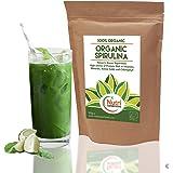 SPIRULINE BIO EN POUDRE de NUTRI SUPERFOODS riche en vitamines, minéraux et acides aminés - 500g
