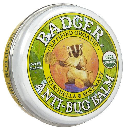 Badger Anti Bug Balm Organic Certified Natural Mosquito Repellent 0.75oz(4-Pack)