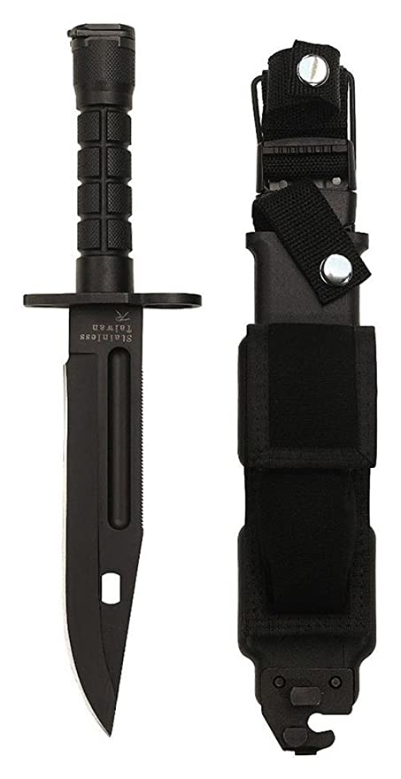 Amazon.com: Rothco negro GI Estilo M-9 bayoneta: Sports ...