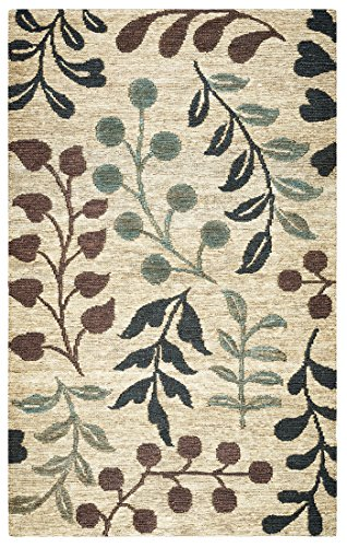 Rizzy Home Jute Area Rugs Whittier Hand-Woven Area Rug 2 Ft. 6 In. X 8 Ft. Natural 30 X 96 X 0.42 Inches Natural