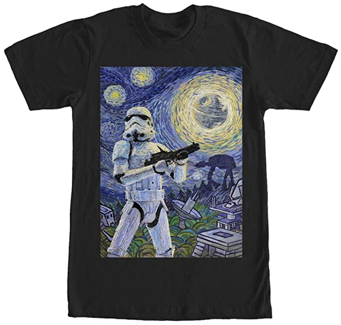 94c7dfb52f Amazon.com  Star Wars Stormtrooper Stormy Starry Night Adult T-Shirt ...