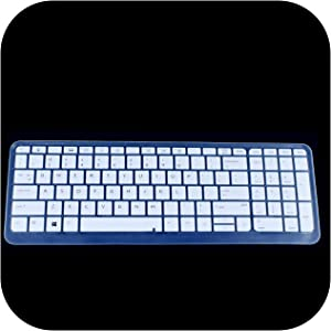 15.6 Inch Silicone Keyboard Cover Protector for Hp Probook 650 G2 G3 G4 / 450 G3 G4 G5 455 G3 I5 I7-White-