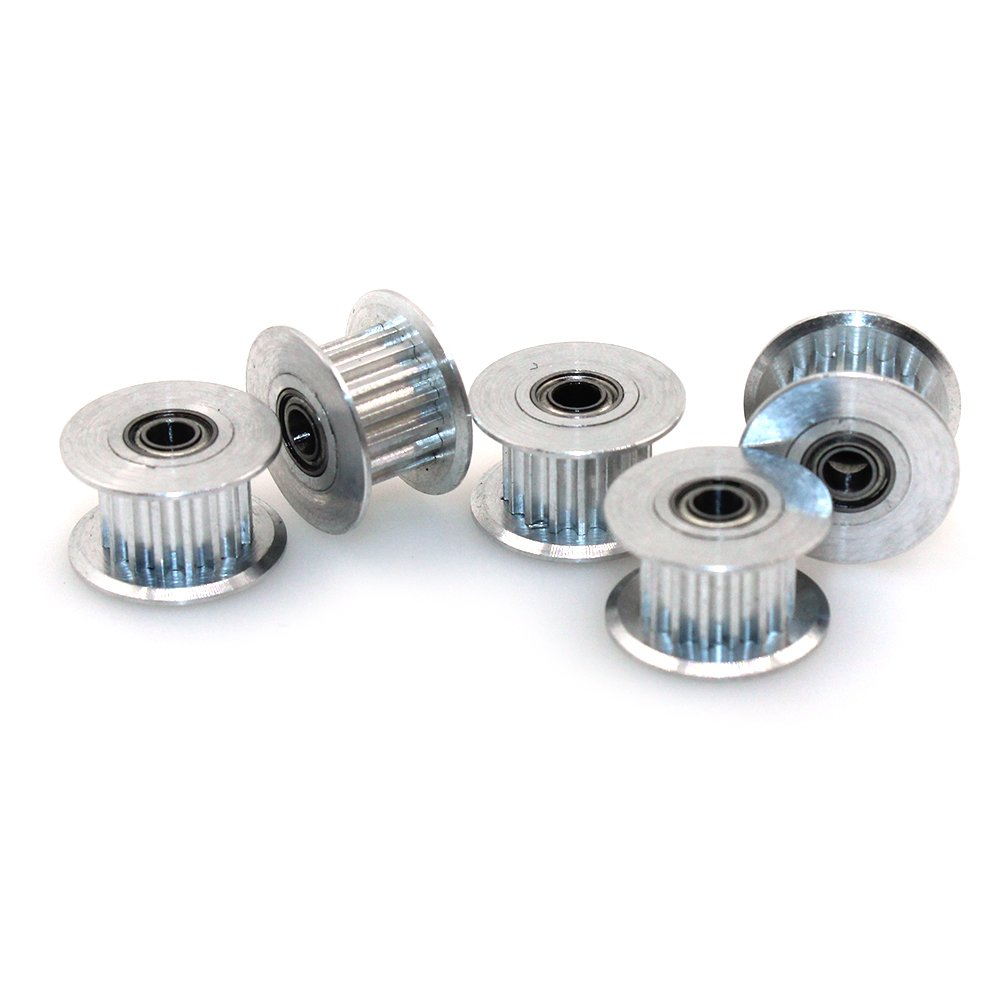 Gt2 Idler Pulley Timing Belt Pulleys Aluminum Biqu 16teeth 3mm Bore For 3d Printer 6mm Width