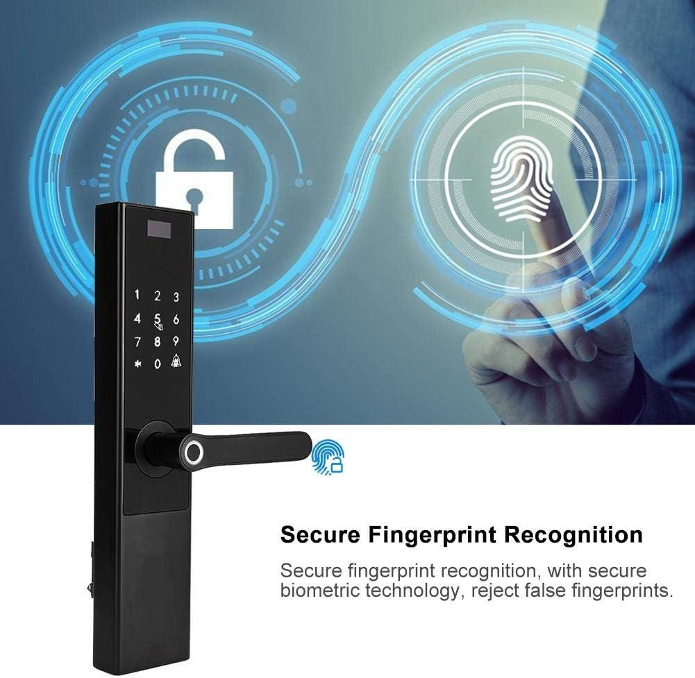 デジタルドアロック、タッチスクリーン指紋パスワードスマート電子ドアロックパスコードコードドアロック盗難防止ホームセキュリティ