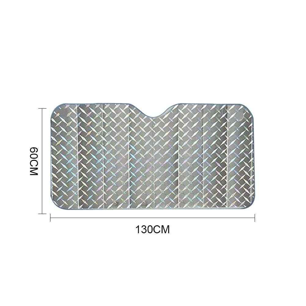 130x70cm ZHIXX MALL Frontscheibenabdeckung,UV Ray Reflector Auto Frontscheibe Sonnenschutz Scheibenabdeckung Auto Windschutzscheibe UV-Schutz Scheibenschutz-Silber