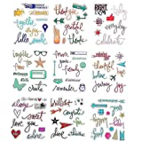 DECORA 9 Pieces Different Phrases Design Clear Rubber Stamp for Card Decoration and Scrapbooking