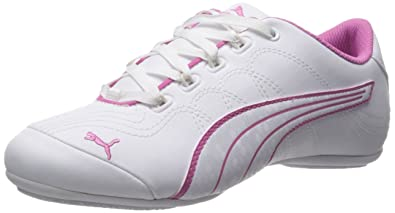 PUMA Women's Soleil V2 Comfort Fun Sneaker, White/White/Phlox Pink, 10.5
