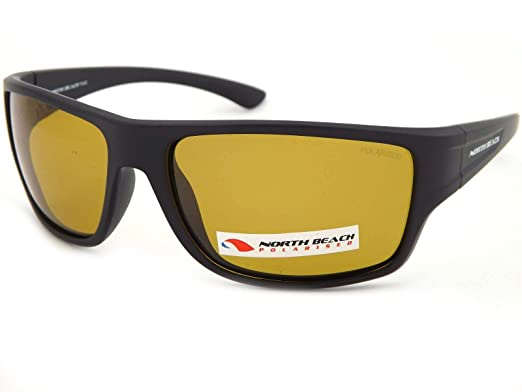 77017e57e51c North Beach Satin Black Polarized Gwyniad Sunglasses 70442  Amazon.co.uk   Clothing