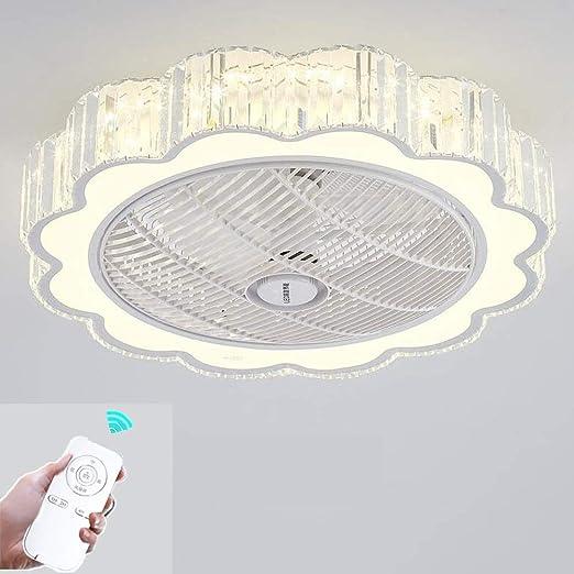 ZZW Lámparas LED de Ventilador de Techo, Control Remoto Invisible ...