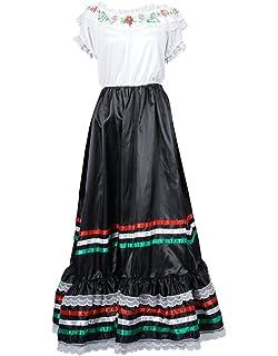 39cfe1a4993 FantastCostumes Women Lace Flower Bohemian Maxi Costumes Festival Party  Dress