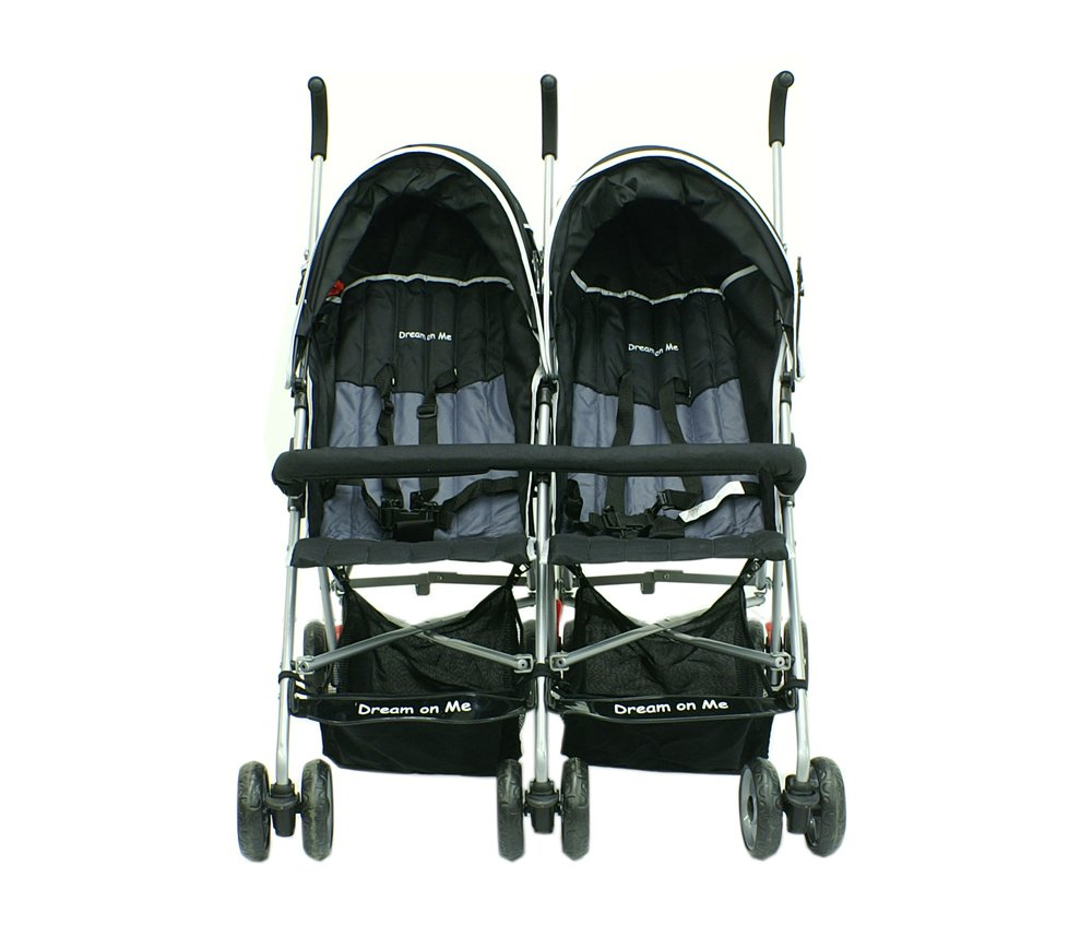 Dream On Me Double Twin Stroller, Black by Dream On Me