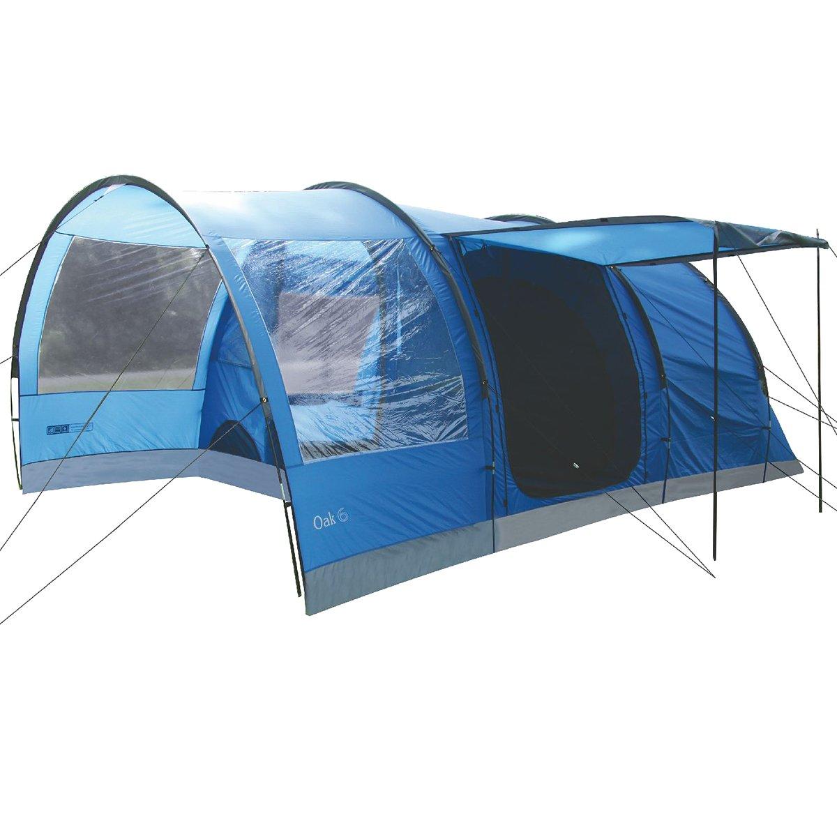 Tunnelzelt Oak 6 blau/grau