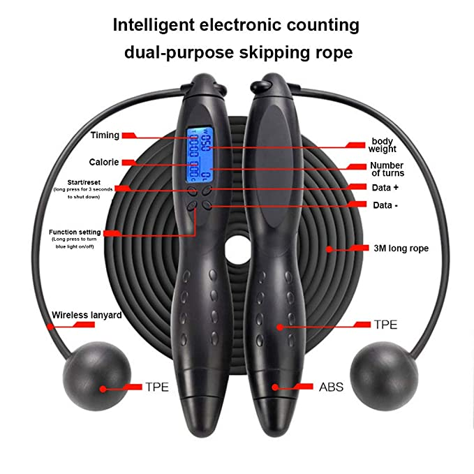 Coomir Digital Jump Rope Counting Calorie Fitness Sport ...