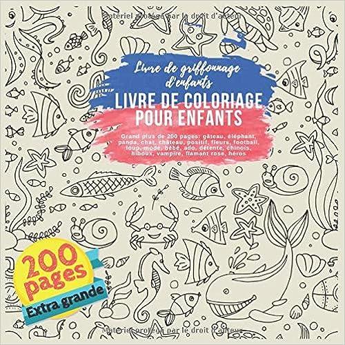 Livre De Coloriage Pour Enfants Grand Plus De 200 Pages