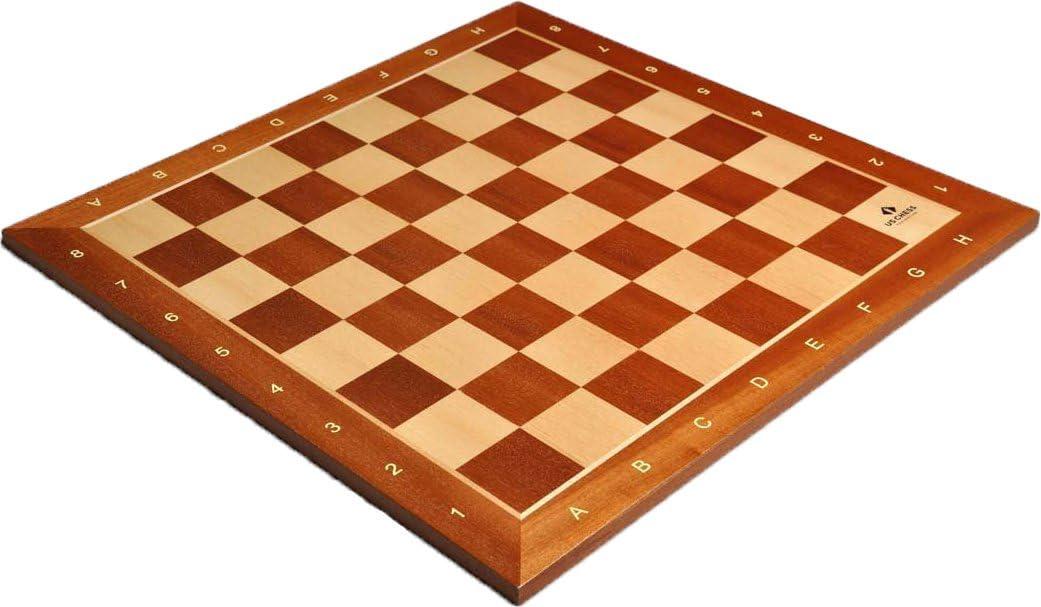 """Mahogany /& Maple Wooden Chess Board 2.5/"""""""