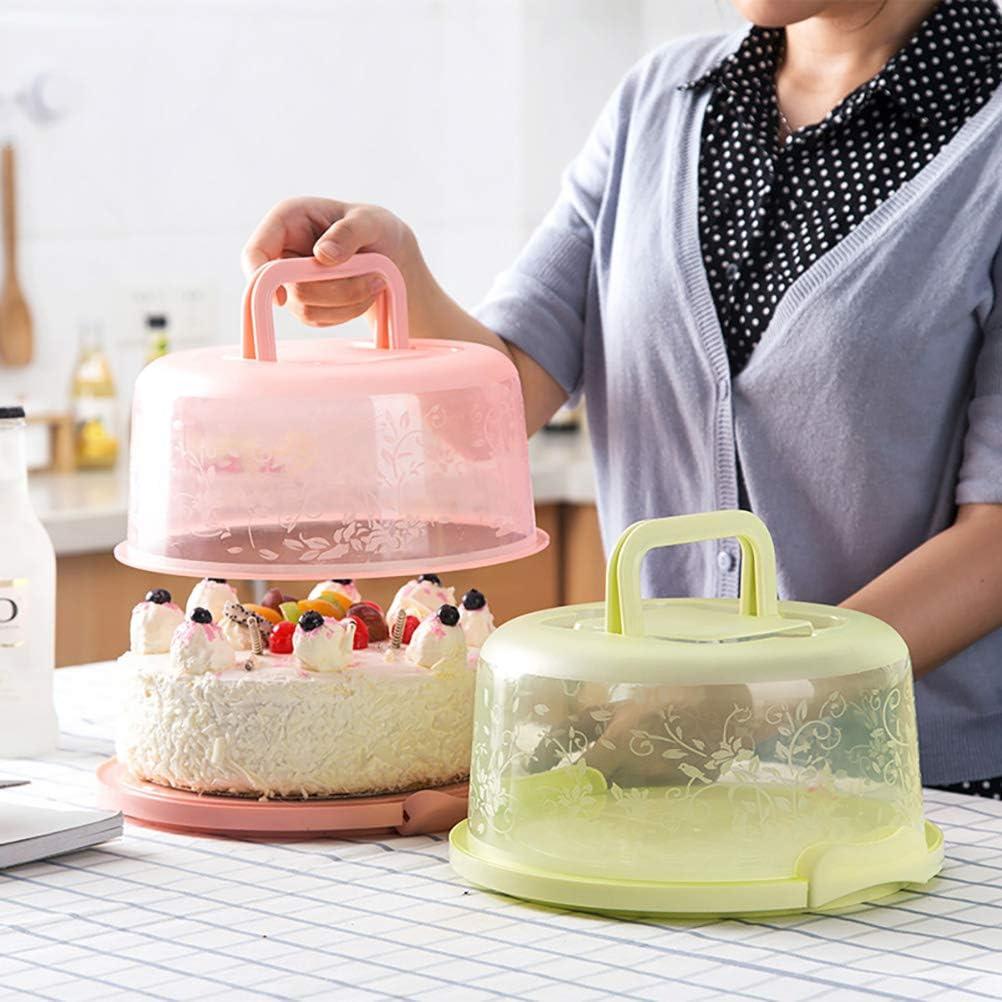 Scatola Portatile per conservazione di Dolci per Cupcake per Torte con Manico Contenitore per Porta Muffin per Torte 6-8 Pollici Stecto Contenitore per Torte