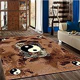 "Mybecca New Fun Theme DRAGON YIN-YANG Style Area Rugs Contemporary Carpet 5′ x 7′ approximate (5'2″ X 6'11"")"